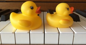 duckies on piano