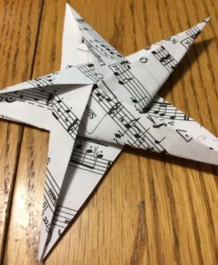 Origami Music star decoration