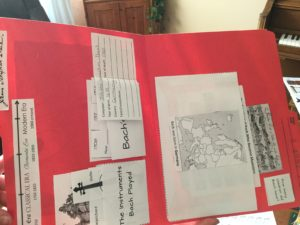 Inside of composer lapbook