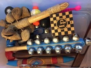 Melissa's Percussion instruments